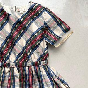 Crewcuts plaid dress, size 7